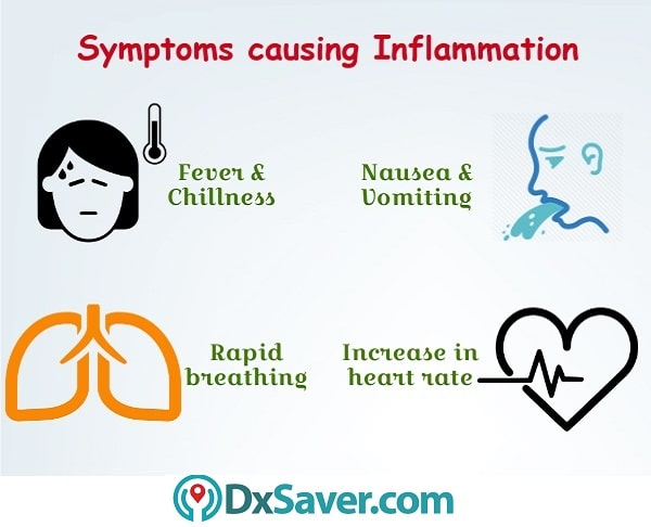 Know more about the symptoms that cause inflammation.