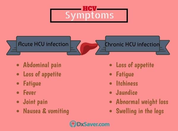 Know more about the symptoms of acute and chronic HCV infection.