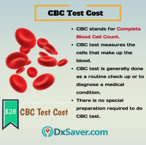 Know more about CBC test and the cost of CBC test in the U.S.