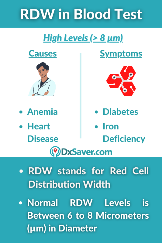 What is RDW in Blood Test? Normal, High & Low levels of RDW & their causes